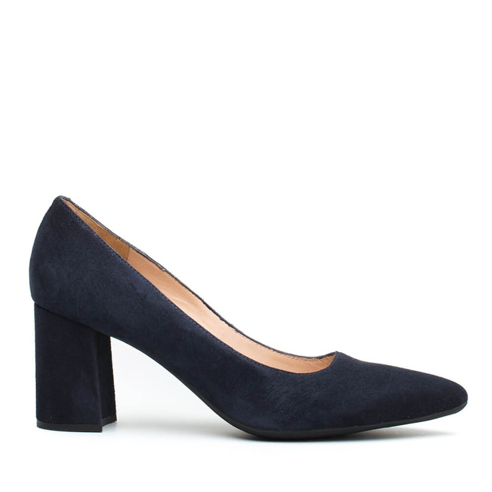 Keira heeled pumps winter pump Kid suede baltic