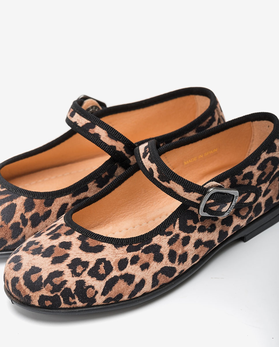 s pink leopard Mary Janes Mercedita de