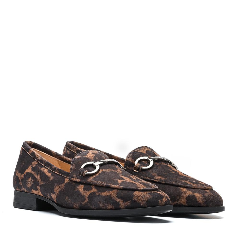 Animal print leather loafers DAIMIEL_JA