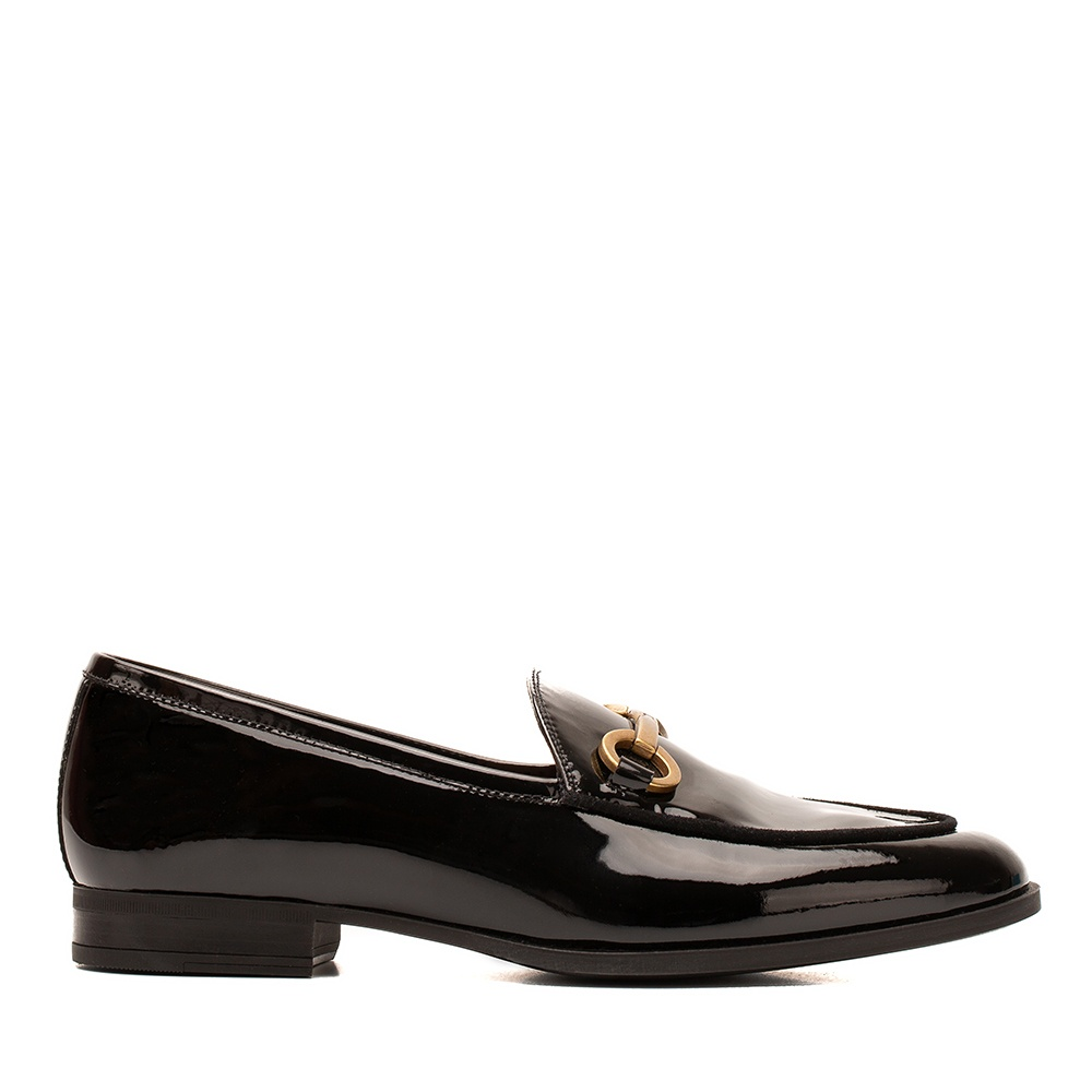 Women's patent leather loafers