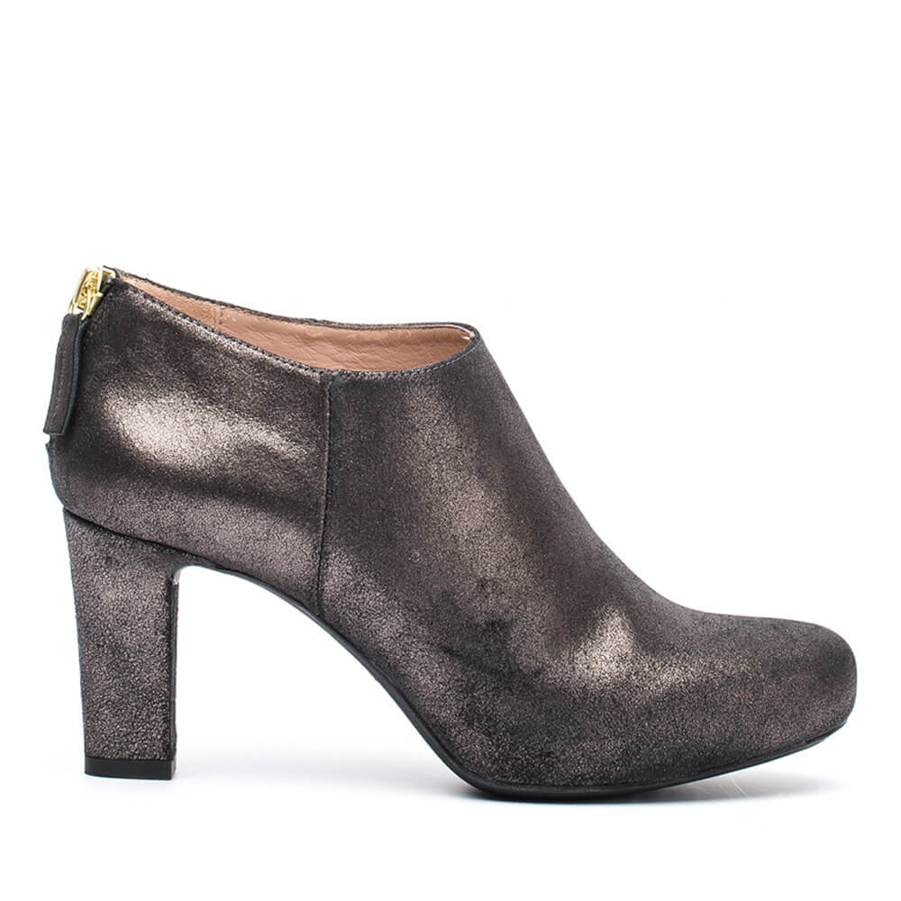 Booties Nicolas Metallic suede plomo woman winter