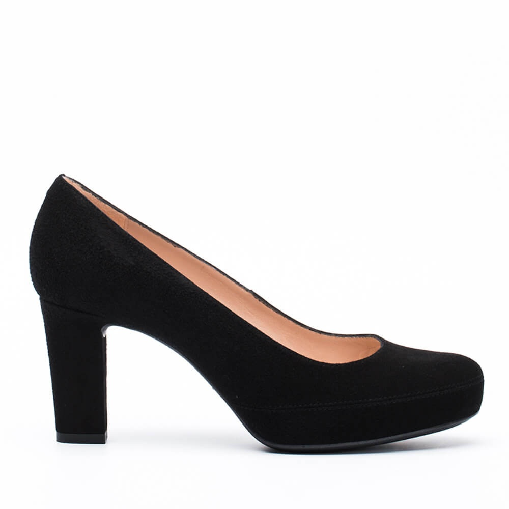 2378ad72b019 Numar heeled pumps winter pump Kid suede black-1