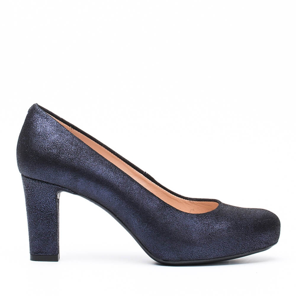 heeled pumps Numis MEtal suede baltic winter pump-1
