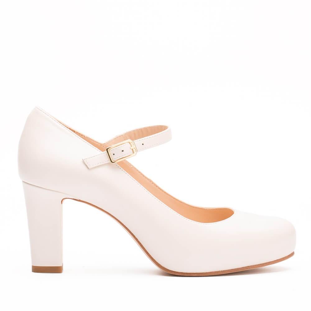 Unisa Numis_18_Na_n, Zapatos de Boda para Mujer, Blanco (Bone), 40 EU
