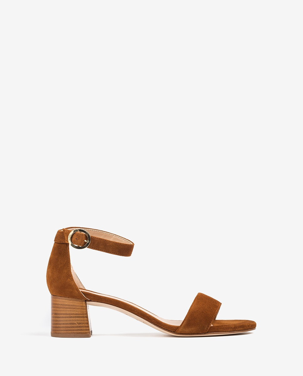 UNISA Brown sandals medium heel GELETE_KS cuir 2