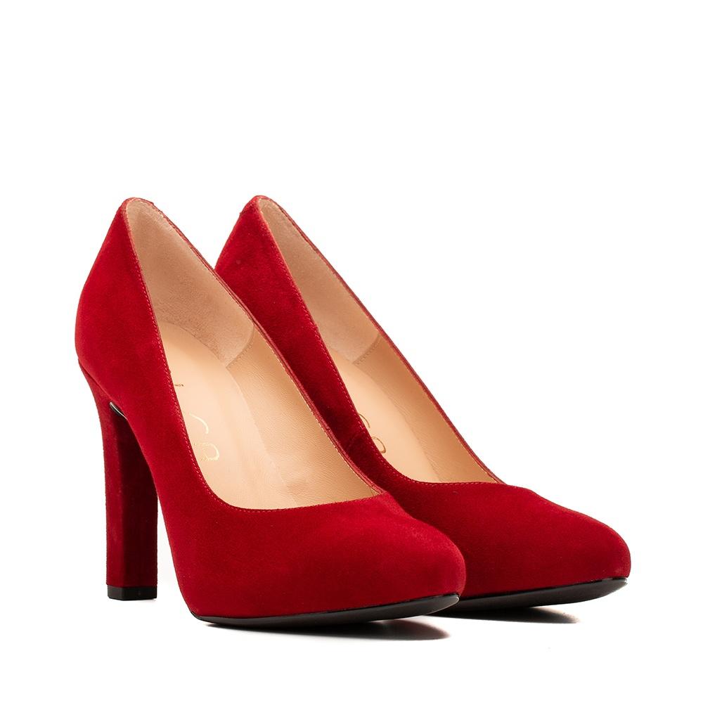 Kid suede high heel pumps | Unisa