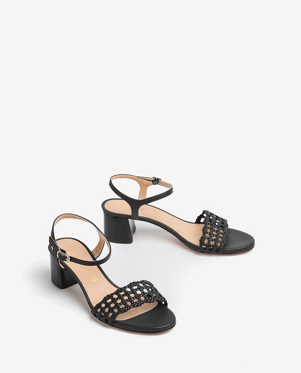 Sandaletten mit Flechtstoff