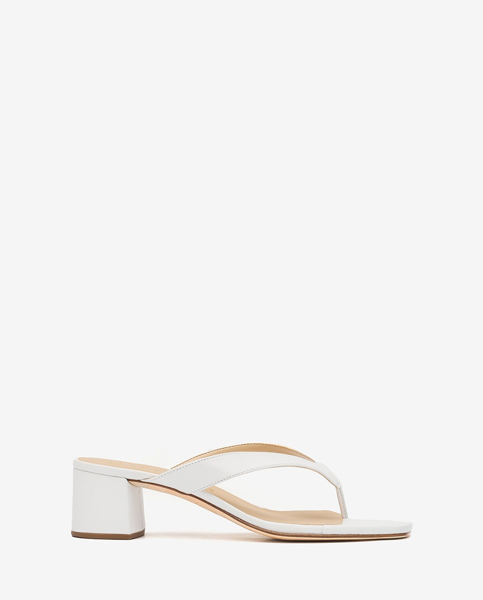 Fuchsia heeled thong sandals KOLMA_KS