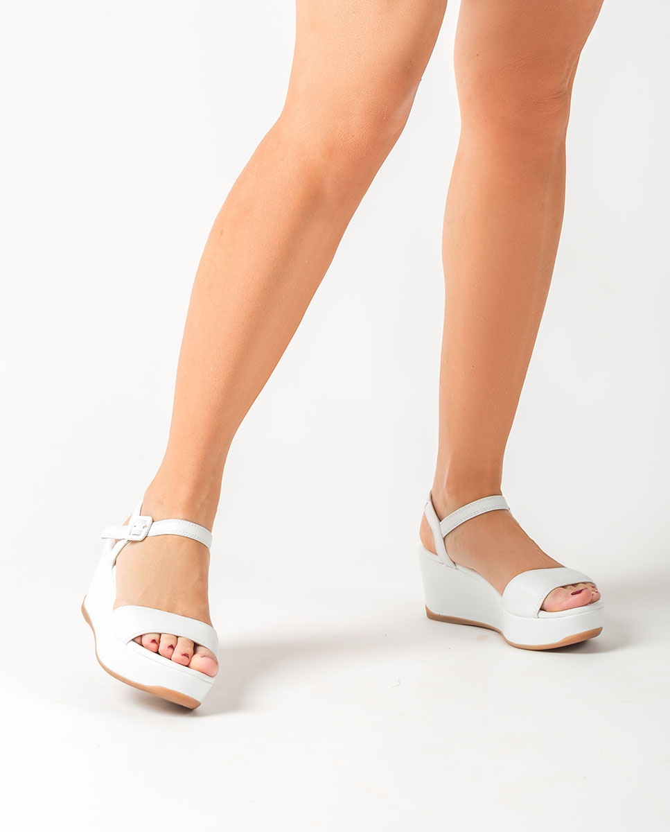 Leather wedge sandals KOMBAS_STY