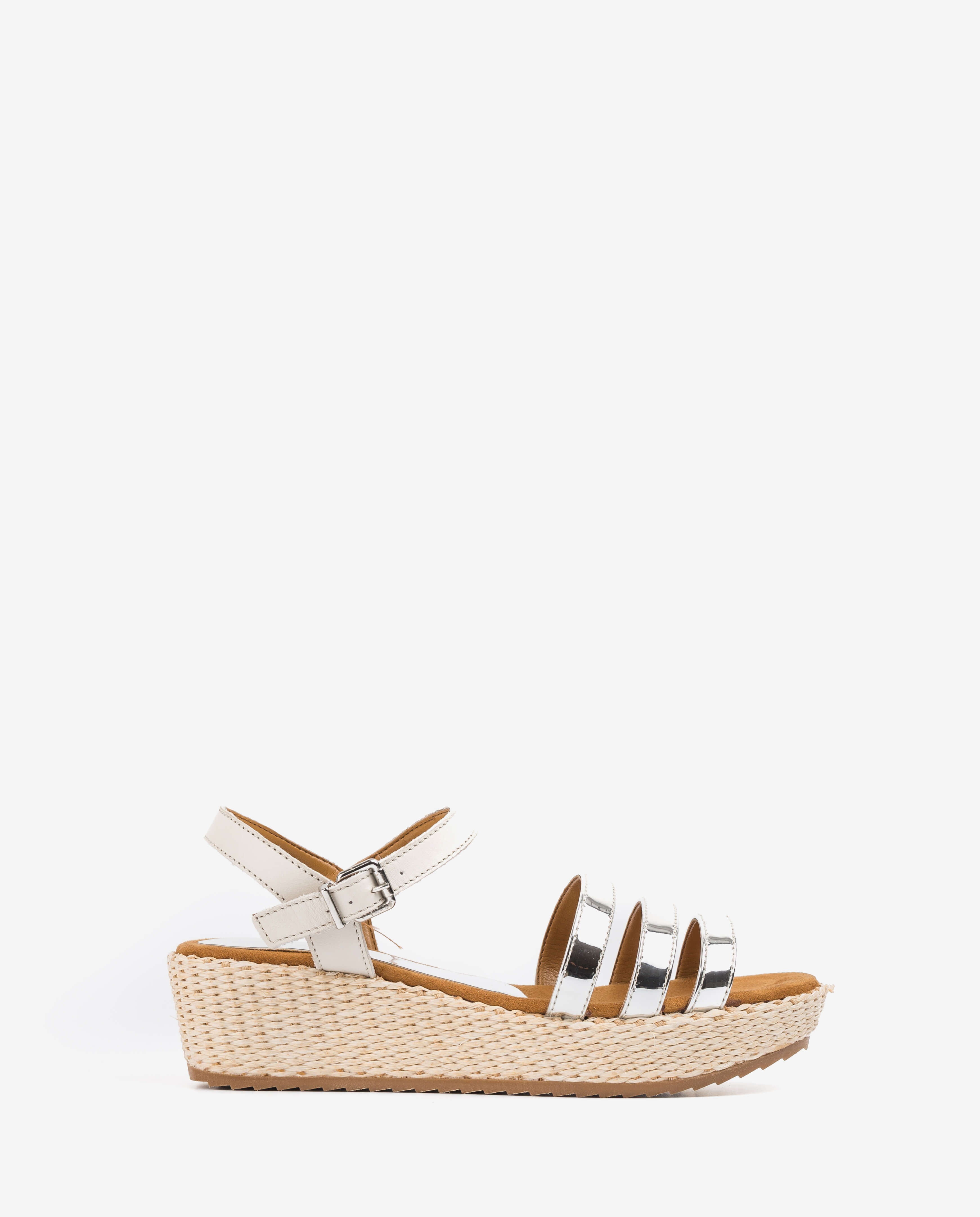 Little girl contrast wedge sandals
