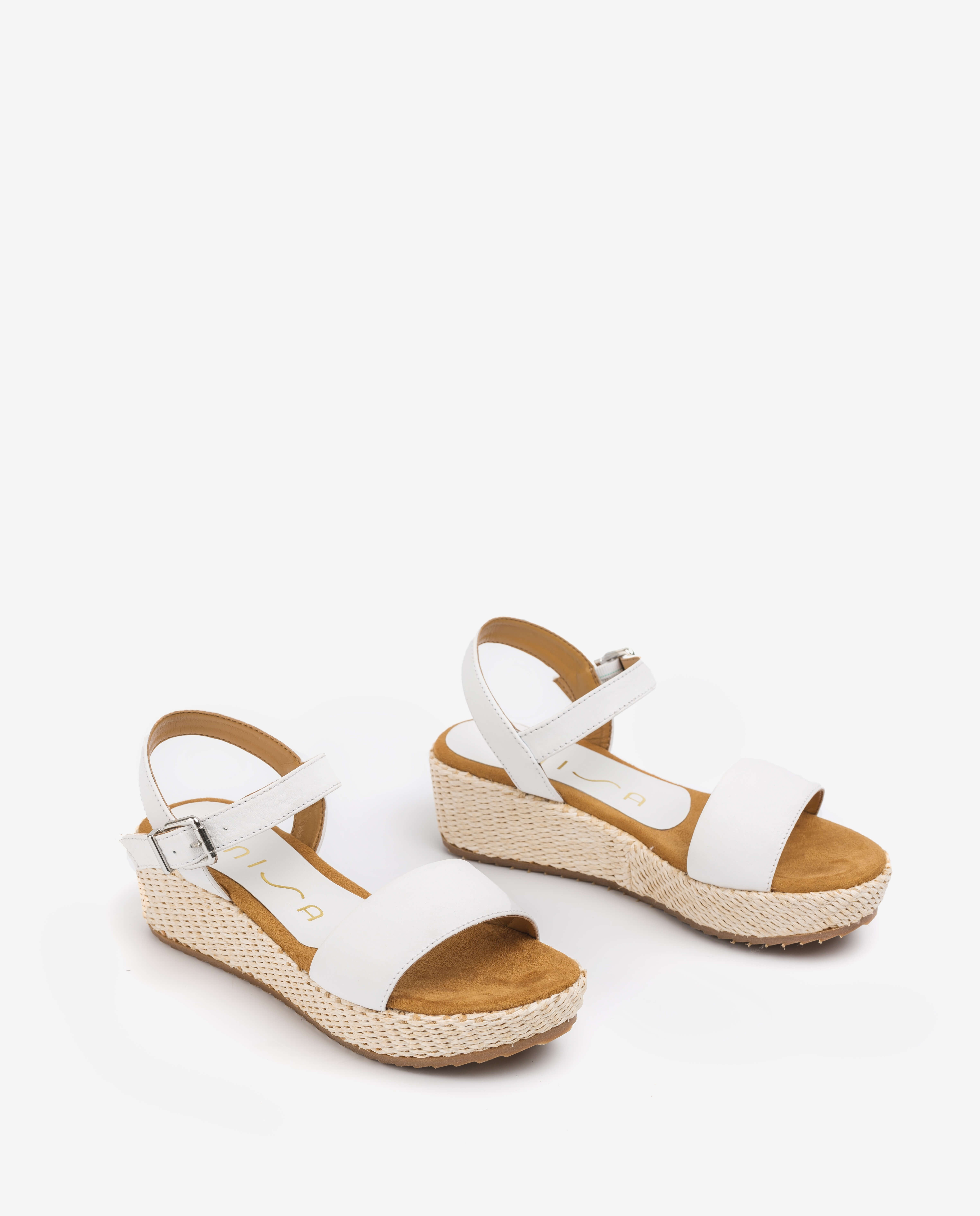 Little girl leather wedge sandals