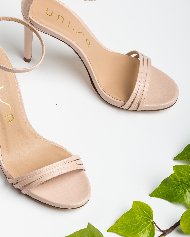 Light pink straps heel sandals YADIN_NA