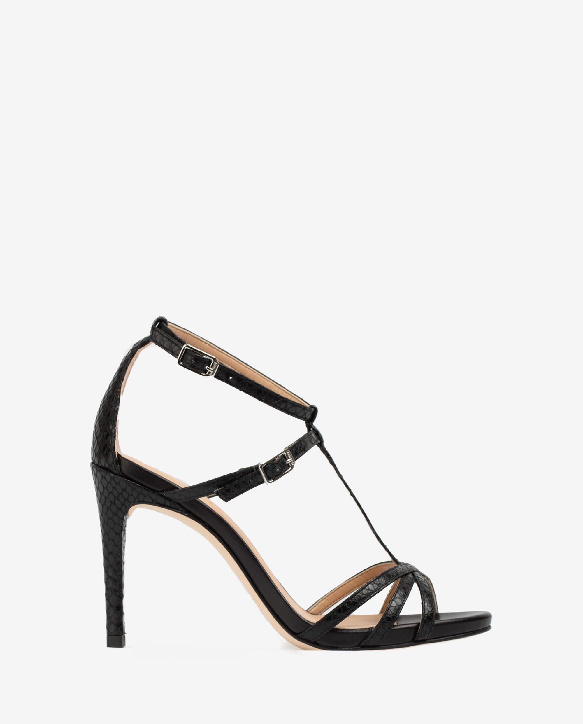 sandales talons multi lanières fines bouts pointus