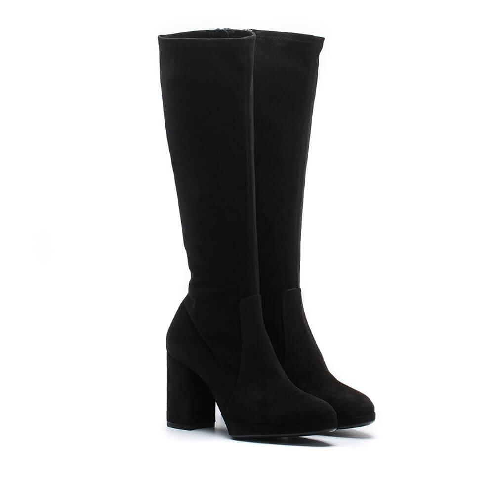 Anzeige ORSAY Velours Stiefeletten Schwarz Damen | Schuhe