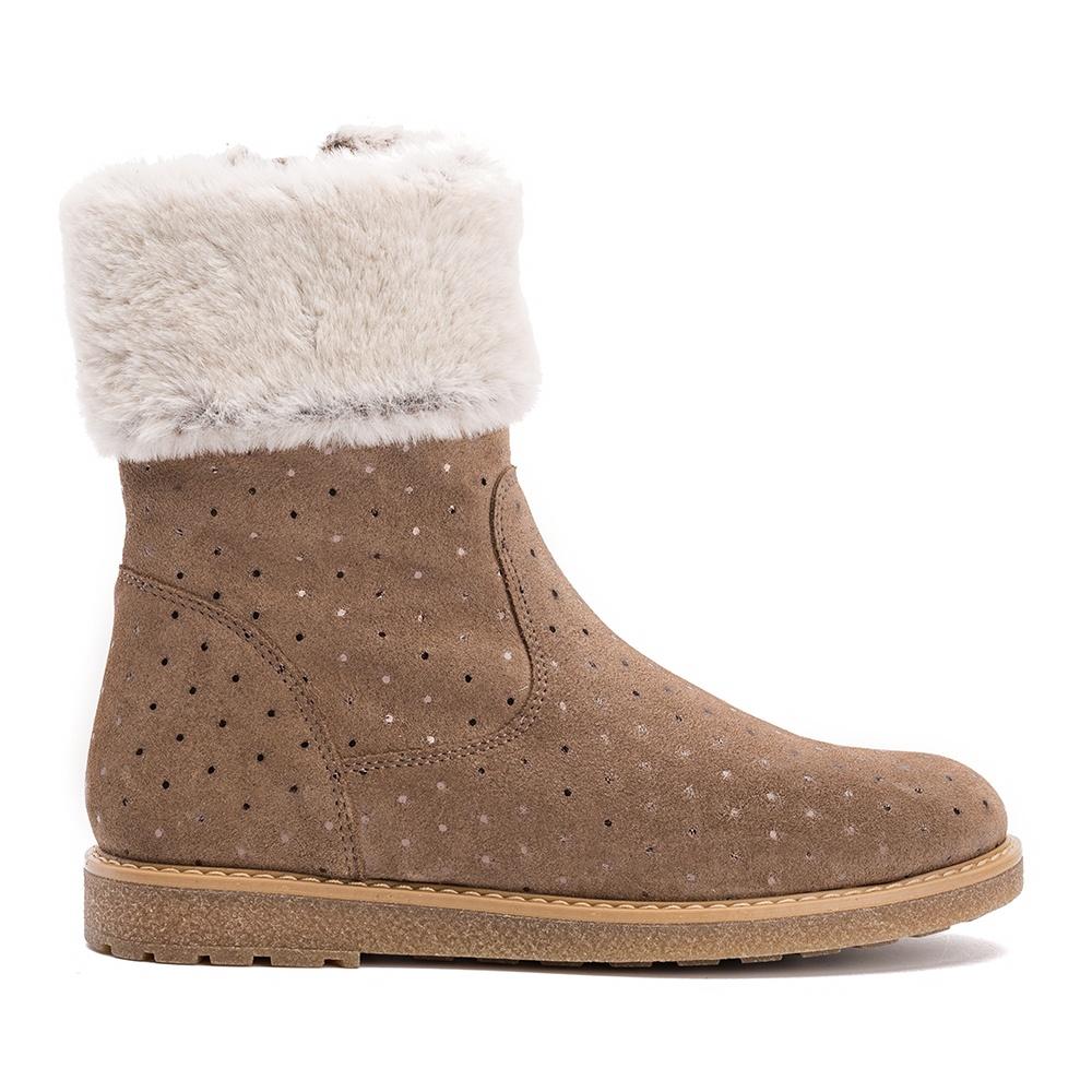 3d5fbc787 UNISA NOSITA HE - Little girls shiny fur trimmed boot Nosita