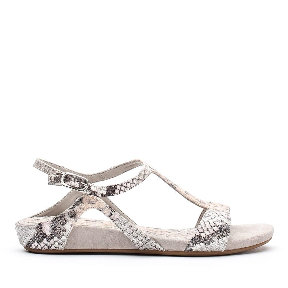 9ba9421fa26077 UNISA ALACE VPL - Glitter snake effect strap sandals