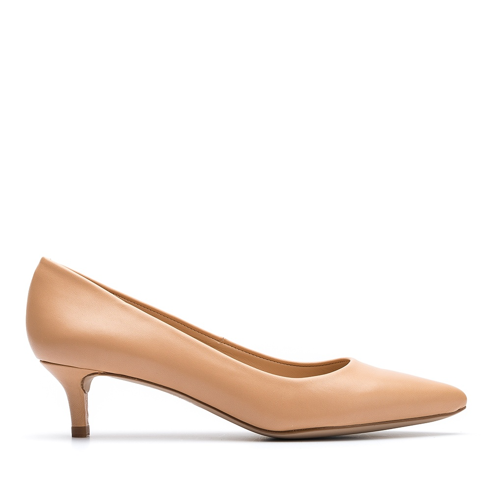 48c9709bc7a Nude pointy toe pump