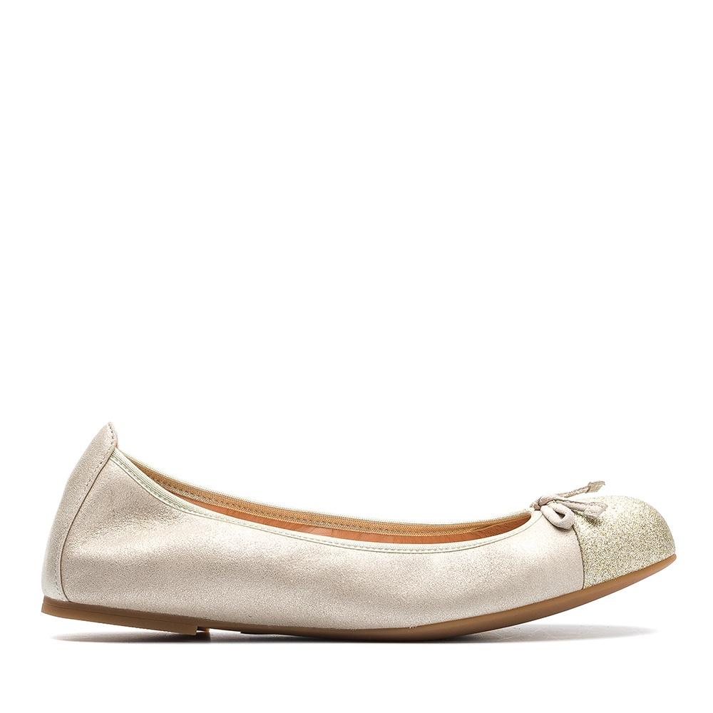 7627cf238 Metallic leather ballerina