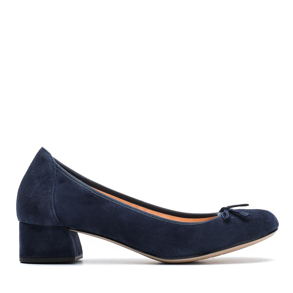 848fc92f8 Blue heeled ballerina