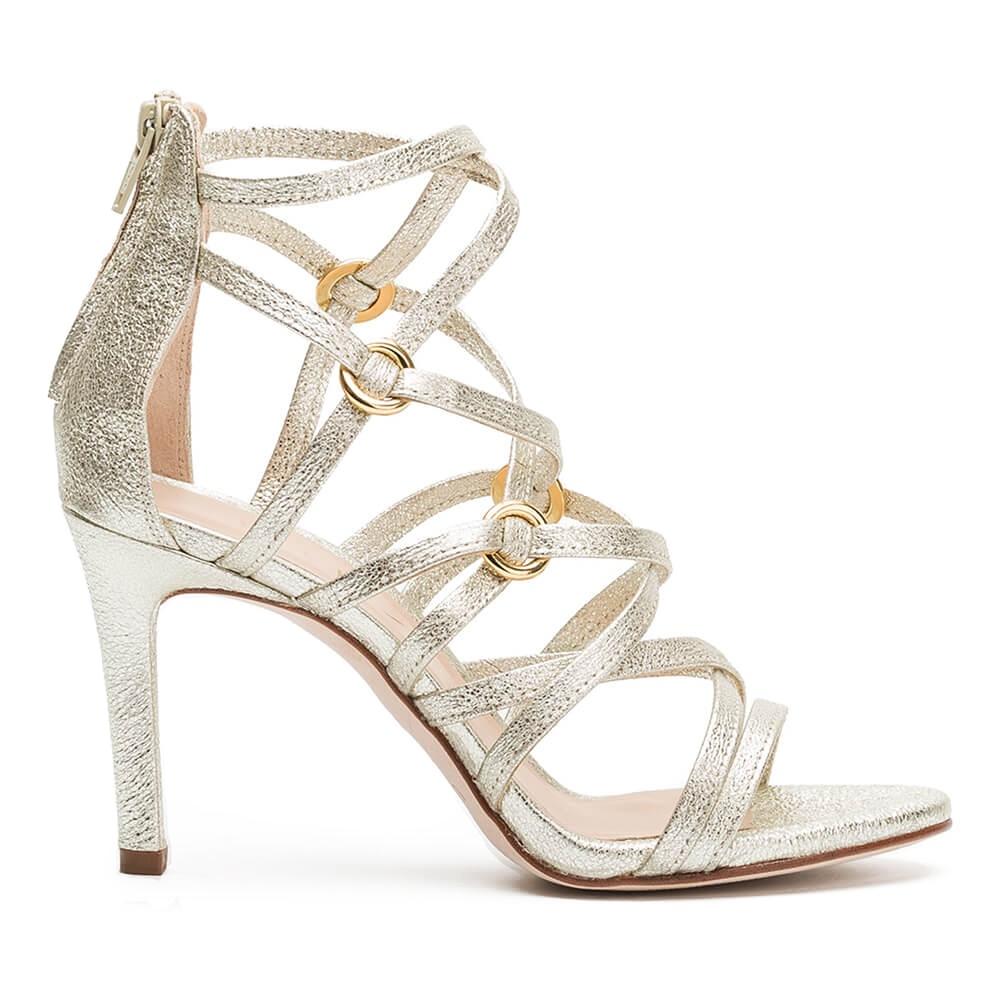 4793f93a9 UNISA WATAJE SE - Platinum strappy sandal with ring ornaments Unisa ...
