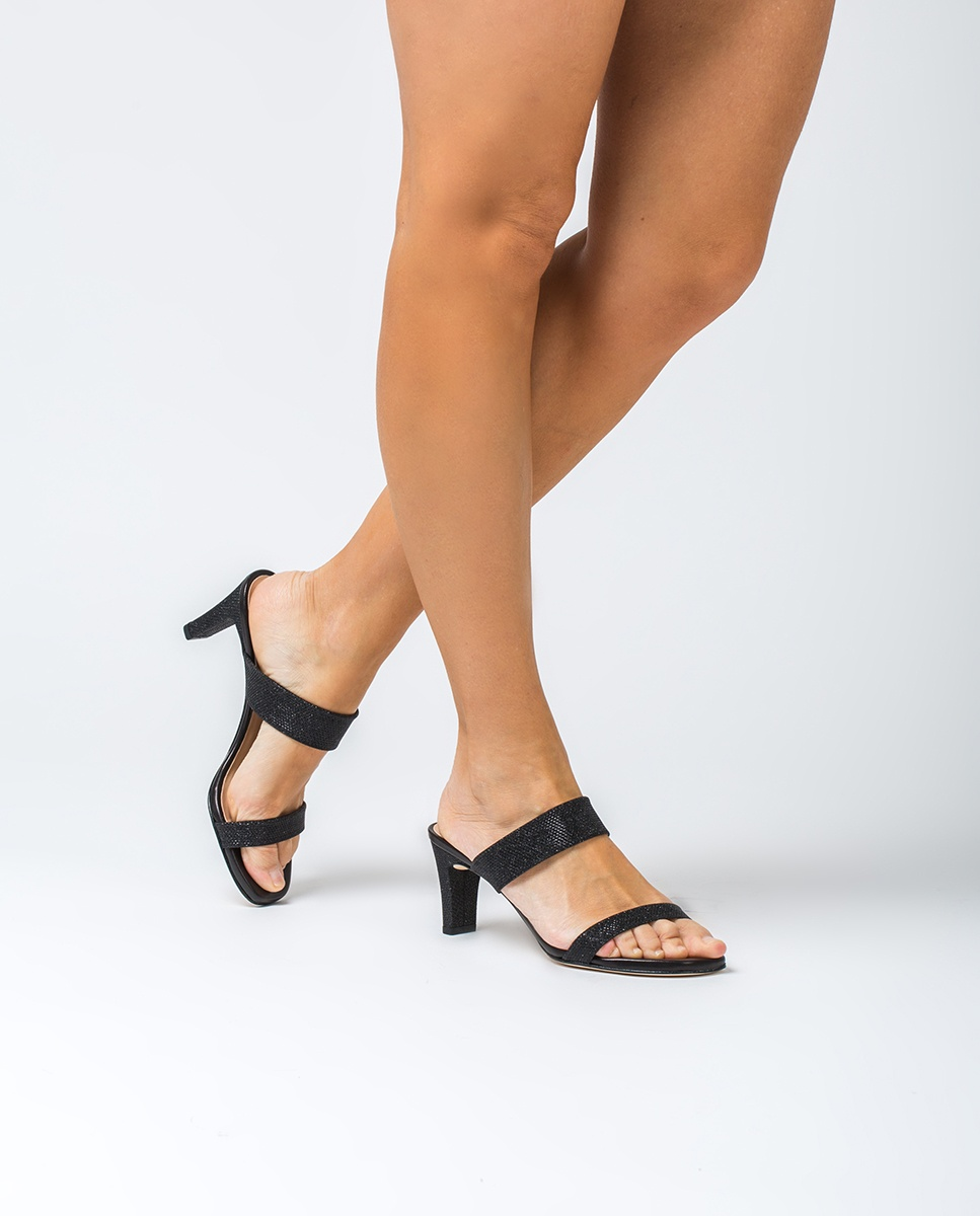 Shiny double strap mules MANTO_EV_NA